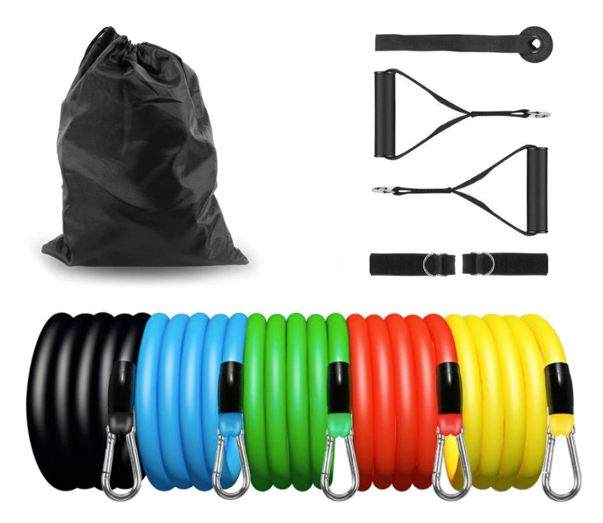 PRO Resistance Band Exercise Training for Legs and Body 11pcs
