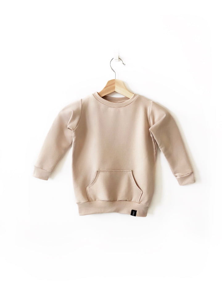 Beige Child Crew Neck Sweater | made in canada clothing | mommy and me clothes  | Canadian made children's clothing