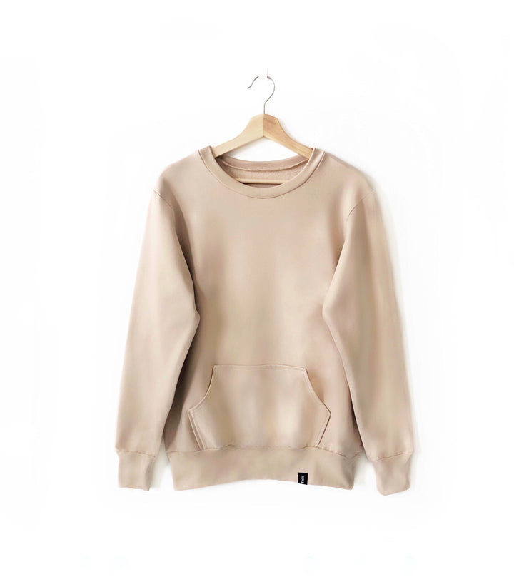 Adult Crew Neck Sweater - Beige.JPG