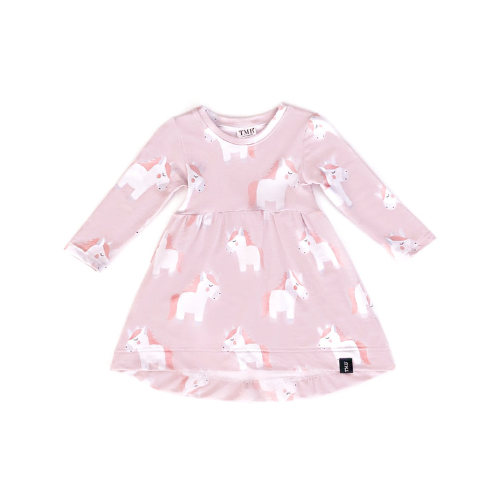 Large Unicorn Baby Doll Dress