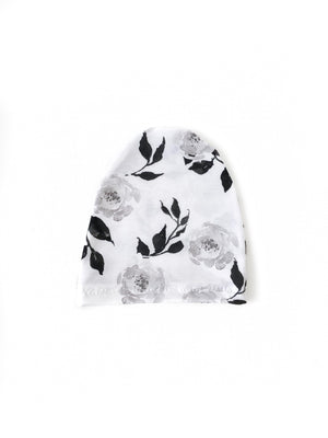 Black Floral Water Colour Child Beanie