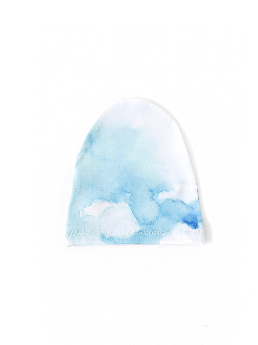 Blue Sky Water Colour Child Beanie