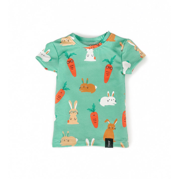 Green Bunny And Carrot Shirt