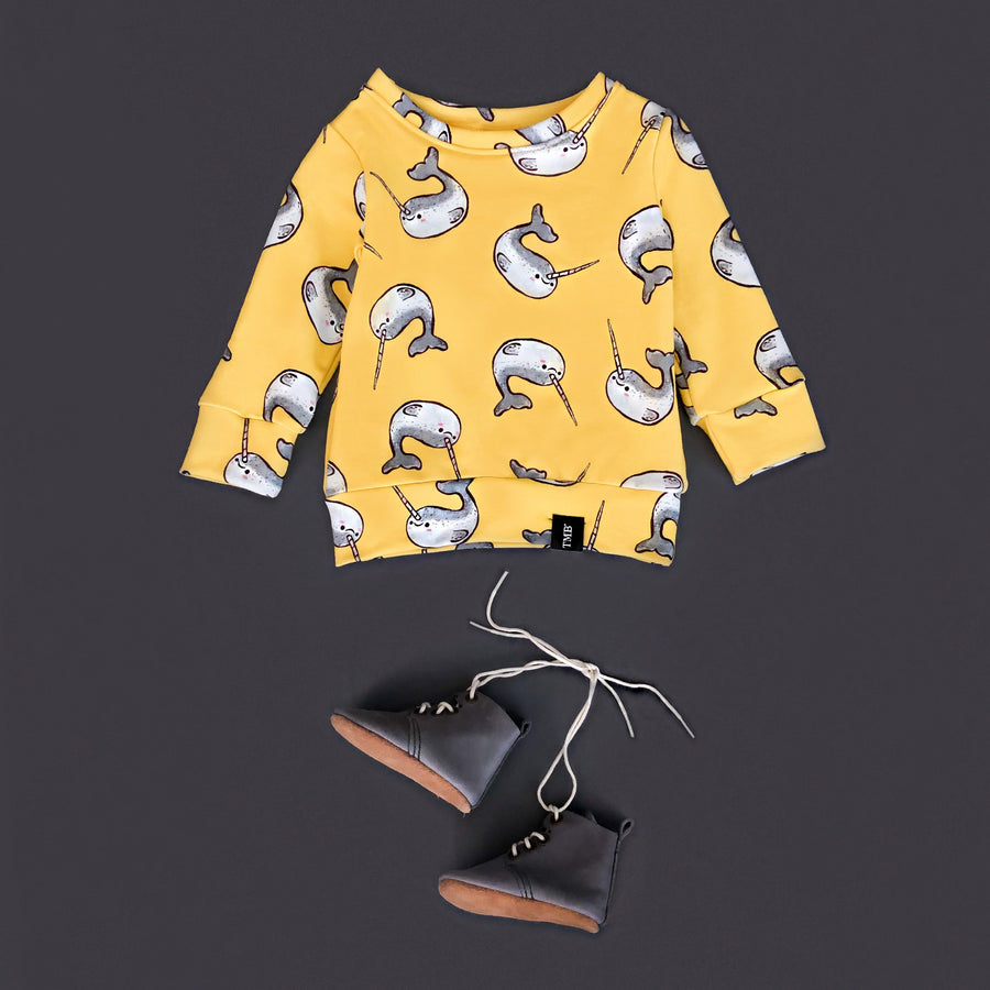 Narwhal Crew Neck Sweater