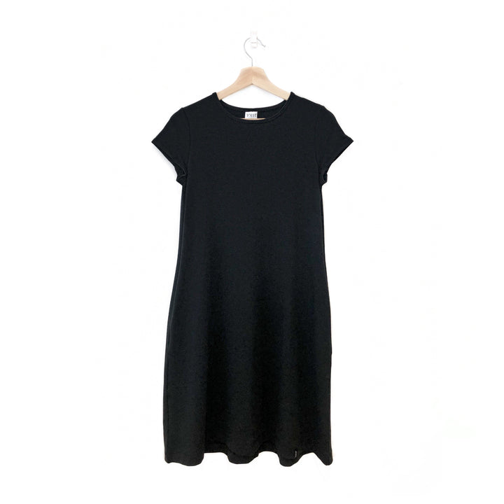 Black Woman's T-Shirt Pocket Dress