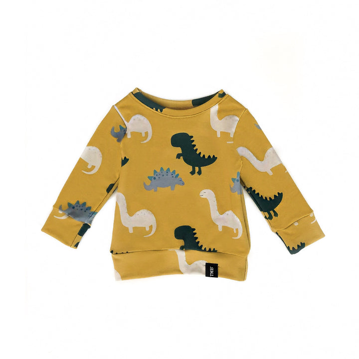 Dinosaur Sweater - Deep Mustard