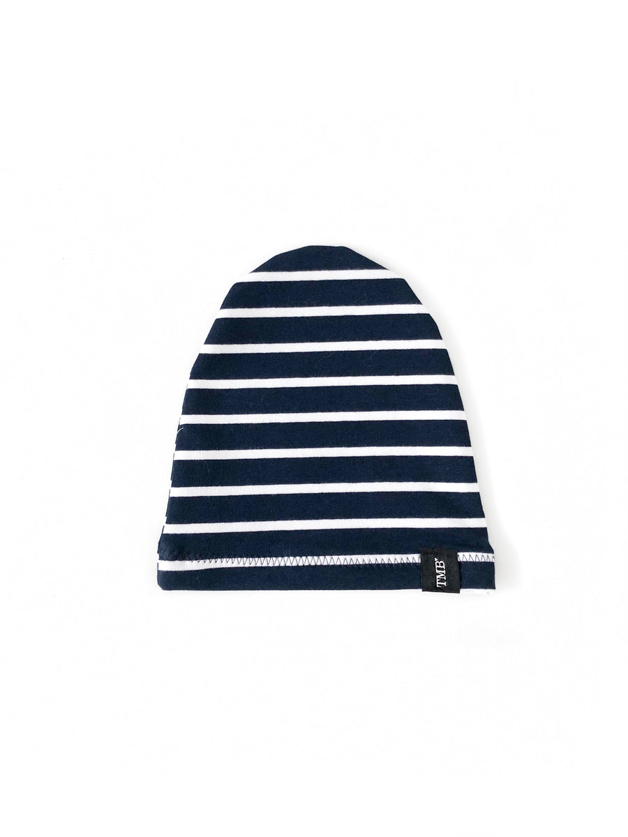 Navy Stripe Child Beanie