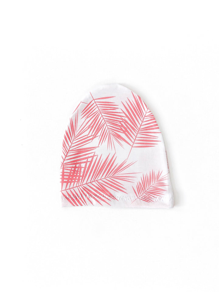 Pink Palm Leaf Child Beanie