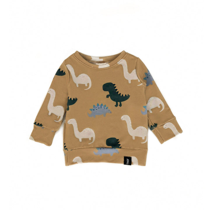 Dinosaur Sweater - Soft Brown