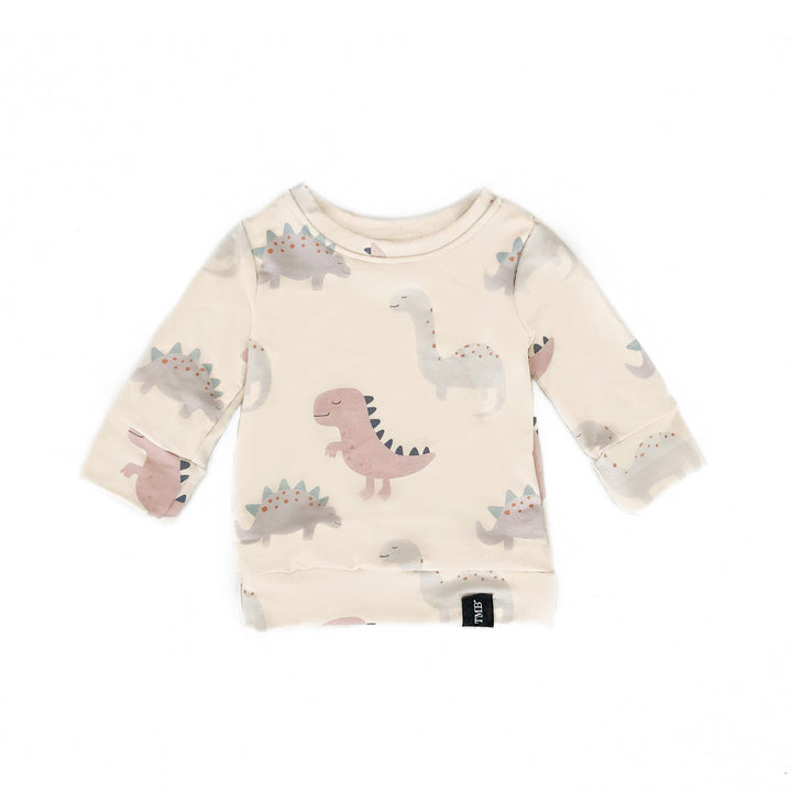Dinosaur Sweater - Beige