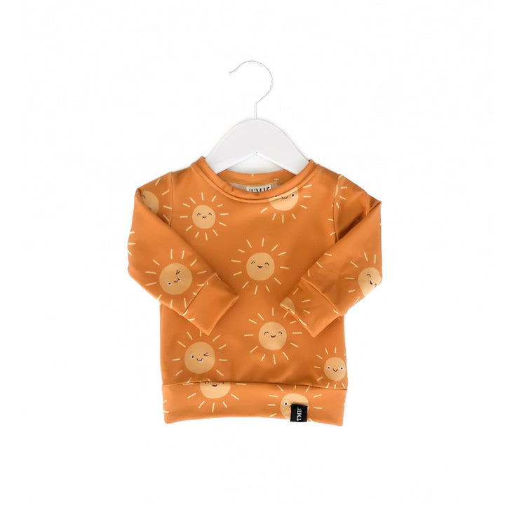 Sunshine Crew Neck Sweater - Mustard