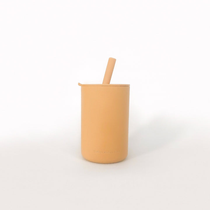 Snack Size Cup With Straw - Mustard