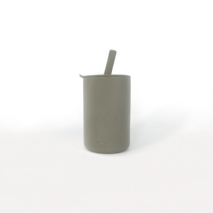 Snack Size Cup With Straw - Sage