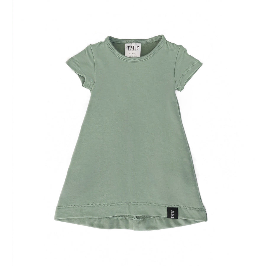Sage Green Pocket T-Shirt Dress