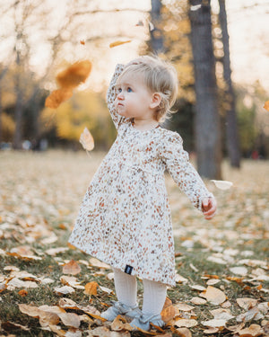 Water Color Autumn Baby Doll Dress
