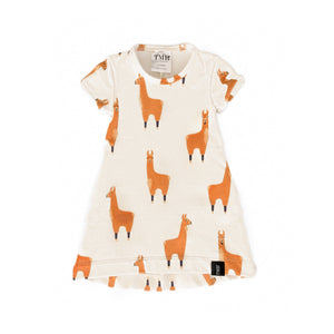 Llama Body Pocket T-Shirt Dress