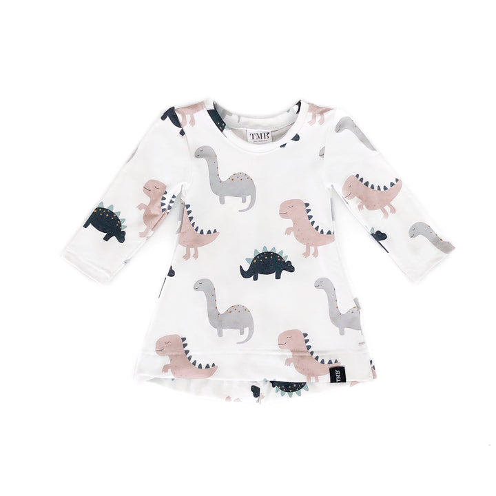 Dinosaur T-Shirt Pocket Dress