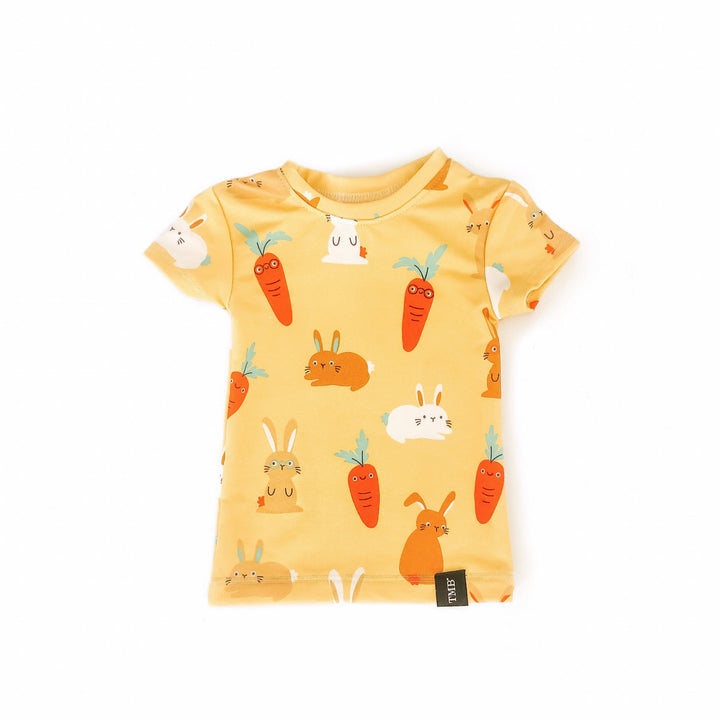 Yellow Bunny And Carrot Shirt
