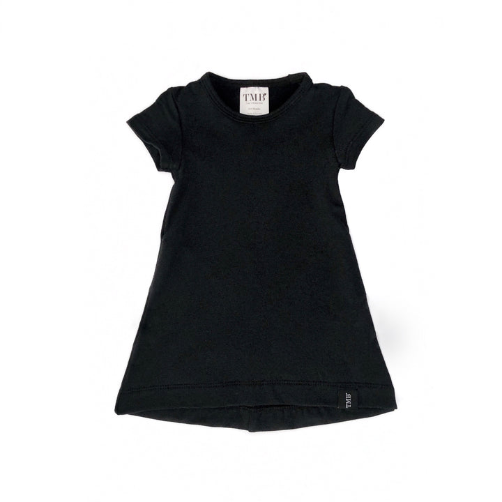 Black Pocket T-Shirt Dress