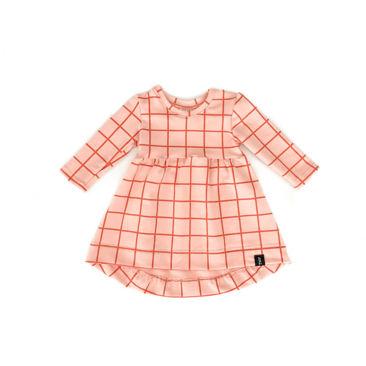 Grid Baby Doll Dress