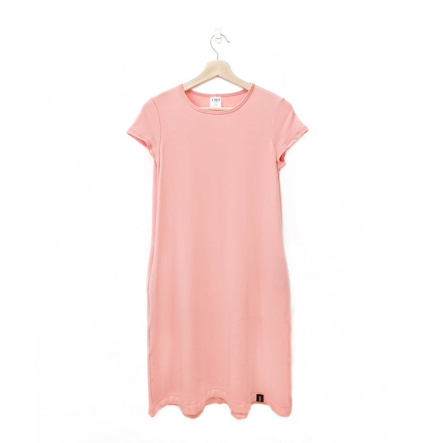 Peachy Coral Woman's T-Shirt Pocket Dress