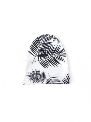 Black Palm Leaf Child Beanie