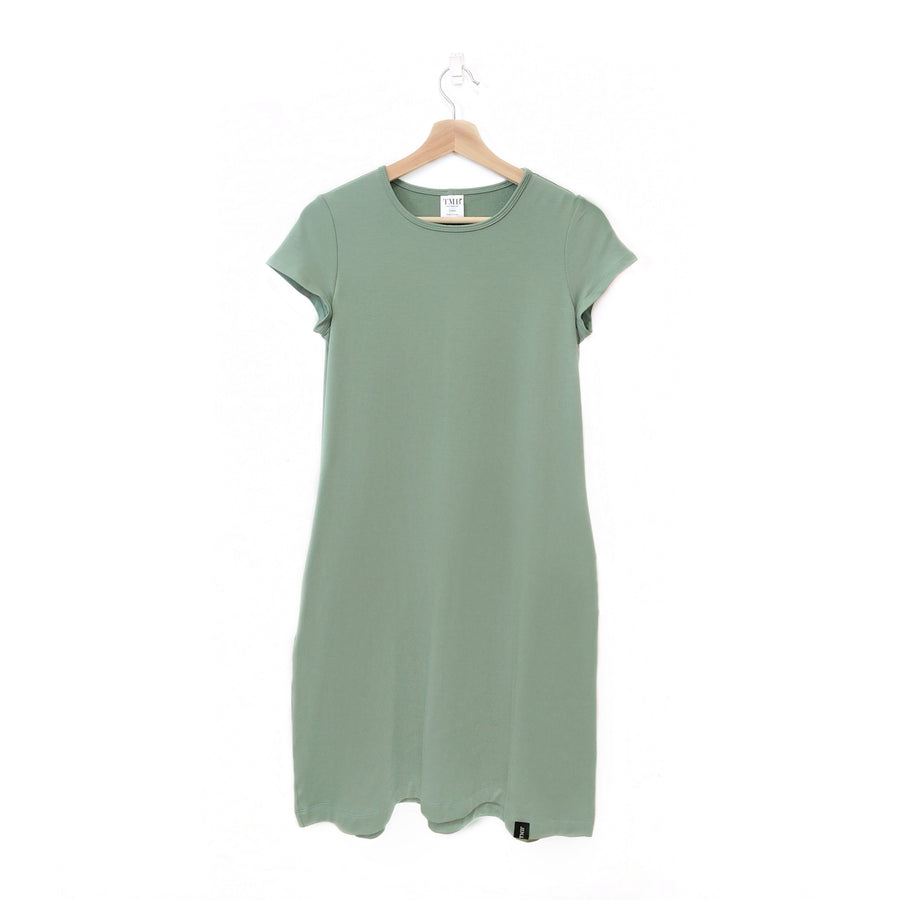 Sage Green Woman's T-Shirt Pocket Dress