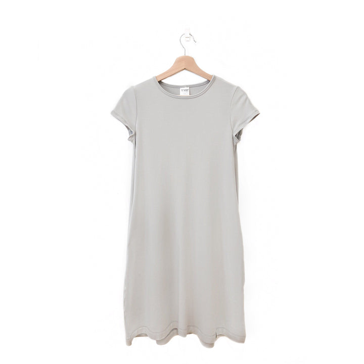 Silver Woman's T-Shirt Pocket Dress
