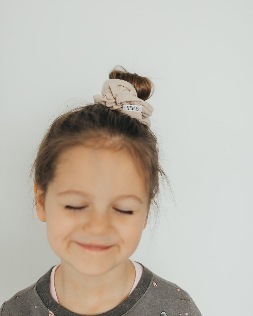 Child Beige Scrunchie
