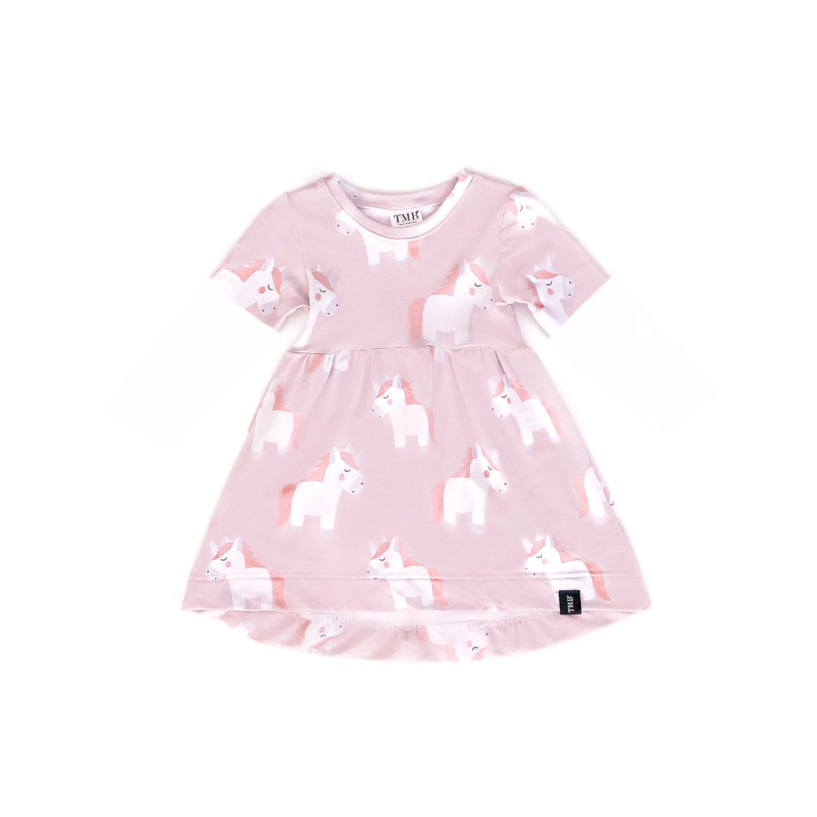 *Short Sleeve Version* Large Unicorn Baby Doll Dress