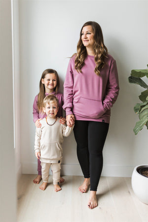 Mom Crew Neck Sweater in Mauve