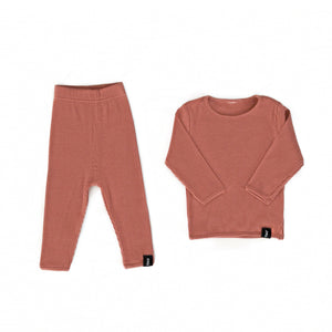 Ribbed Lounge Set - Deep Rose
