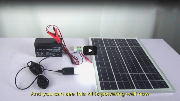How to Install A 25W Solar Panel Kit