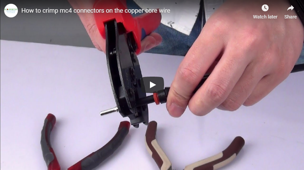 How to Crimp MC4 Connectors on the Copper Core Wire