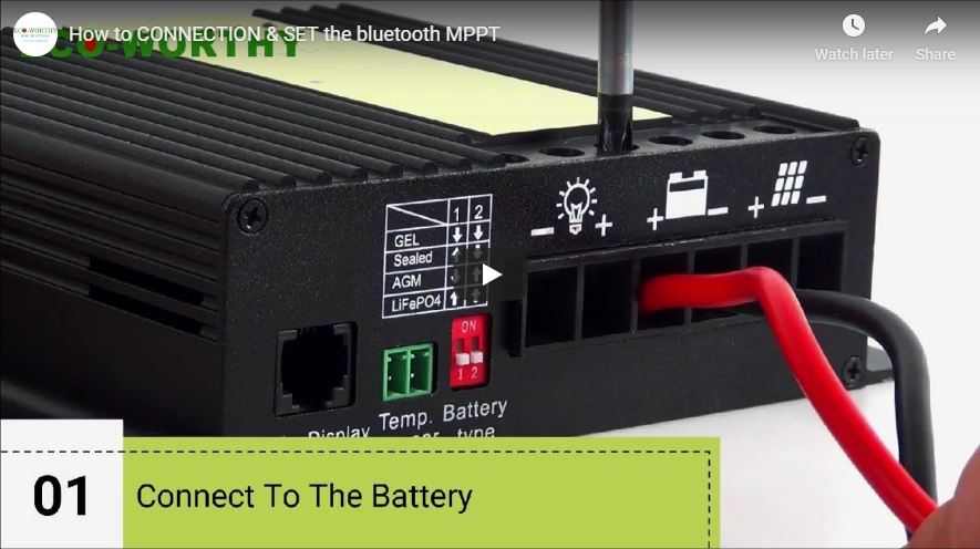 How to Set Up the  MPPT Solar Charge Controller with Bluetooth