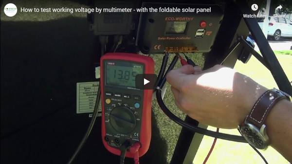 How to Test the Foldable Solar Panel Working Voltage?