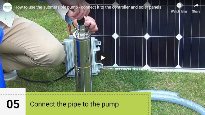 How to Wire the Submersible Pump with Controller and Solar Panels
