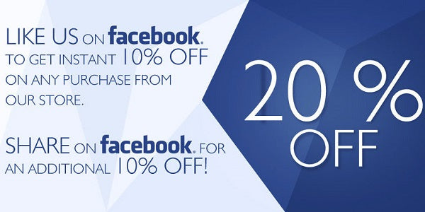 Get 10% Coupon By Following Us On Facebook