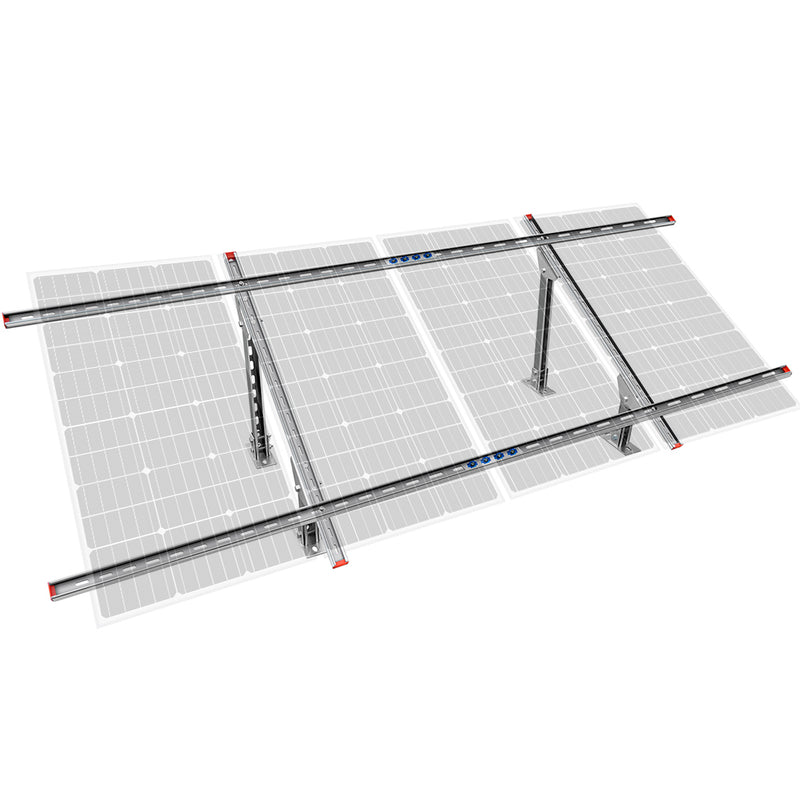 Adjustable Multi-Piece Solar Panel Mounting Brackets for 1-4 Pieces of Solar Panels | ECO-WORTHY