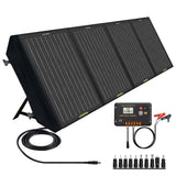 120W 12V Foldable Solar Panel Suitcase with 20A Charge Controller for Camping RV