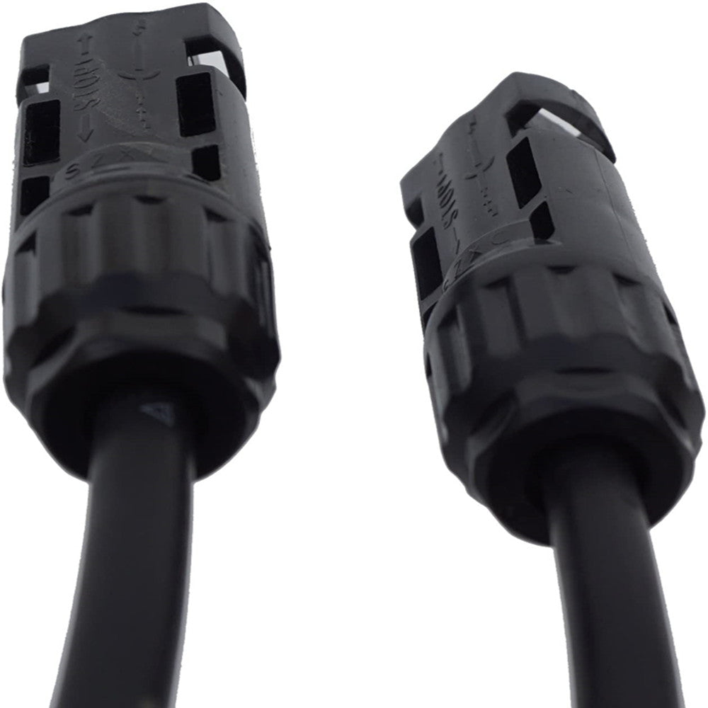 10AWG Y Branch MC4 Cables Connectors for 2 Solar Panels In Parallel