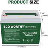 100Ah 12V AGM Deep Cycle Battery | ECO-WORTHY