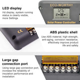 20A Charge Controller Solar Panel Battery Dual USB 12V/24V LCD - ECO-WORTHY