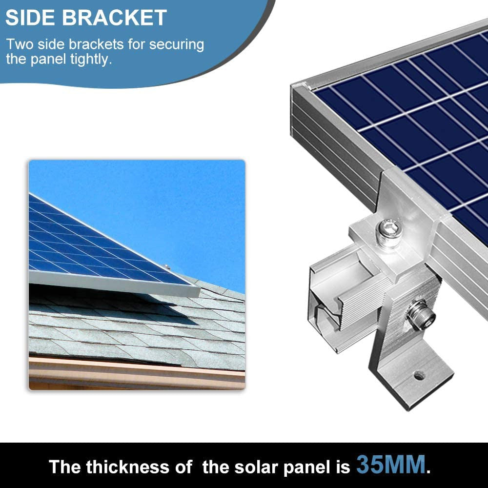 Roof Solar Panel Mounting Bracket Kit for 1-4 Pieces of Solar Panels | ECO-WORTHY