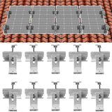 Roof Solar Panel Mounting Bracket System Kit for 1-4 Pieces Solar Panels