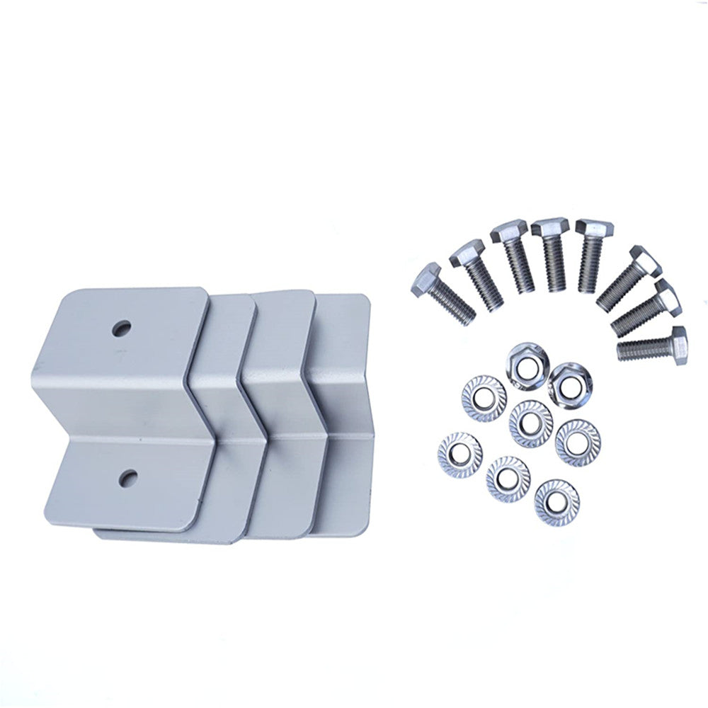 Z Style Solar Panel Mounting Brackets with Nuts and Bolts