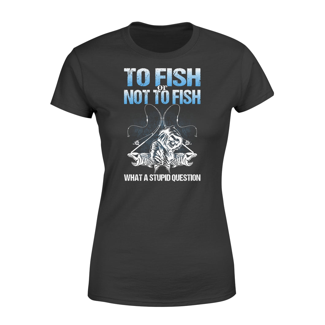 Awesome Fishing Fish Reaper fish skull Women's T-shirt design - funny quote