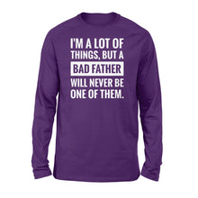 Load image into Gallery viewer, Never be a bad father Shirt and Hoodie - SPH55