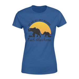 Elephant quote  We are just walking each other home women T shirt - IPH246