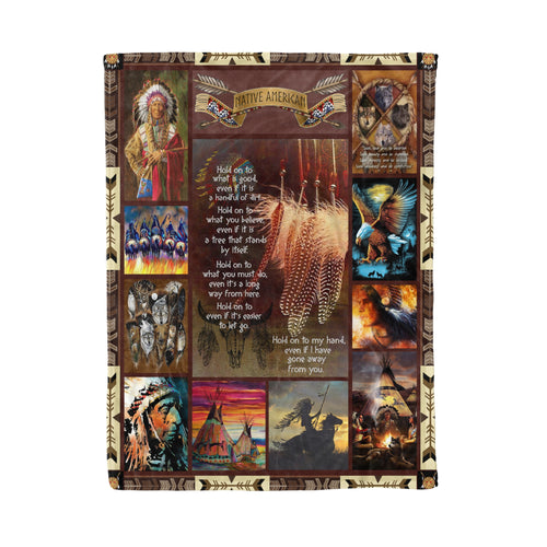 Native American Culture fleece blanket